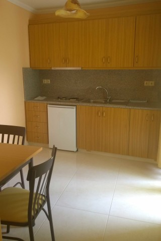 stratos apartments and studios kitchen